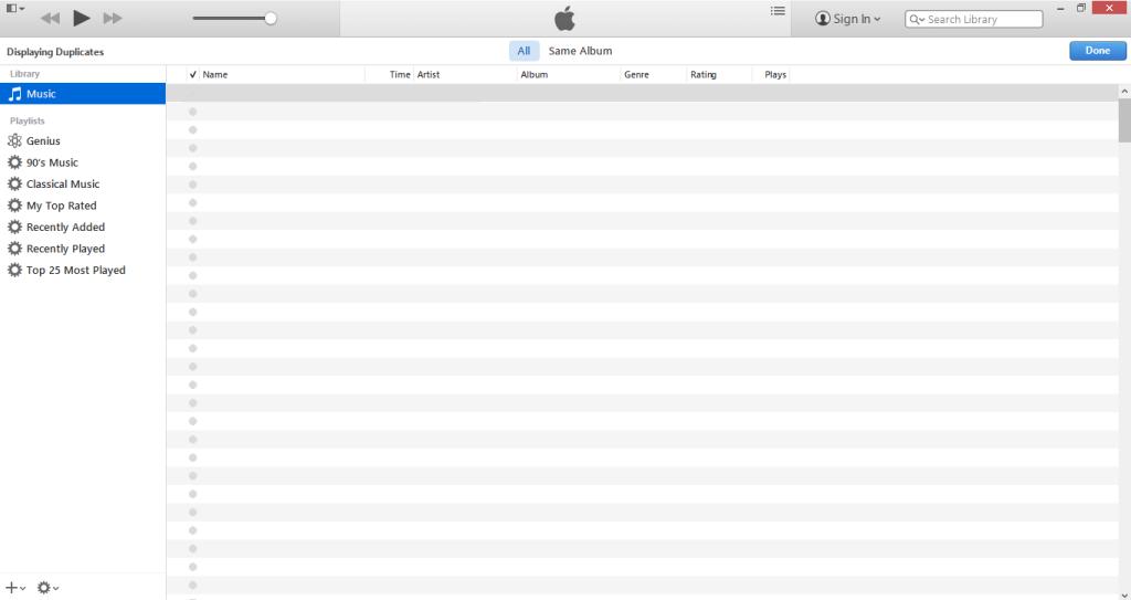 Deleting Duplicates in iTunes